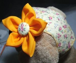 S Dog Clothes Dress Dog Headband Little Yellow Rose Pet Costume
