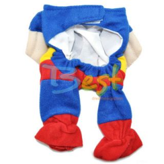 Pet Cat Dog Clothes Costumes Apparel T Shirt Superman Suit XS