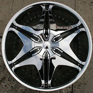 Akuza Big Papi 712 24 x 9 0 Chrome Rims Wheels Audi Q7 07 Up 5H 35