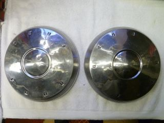 1961 62 Ford Galaxie 500 Fairlane Dog Dish Poverty Hubcaps Wheel Covers