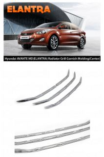 New Radiator Grill Chrome Molding Cover Trim B226 for Hyundai Elantra 2011 2013