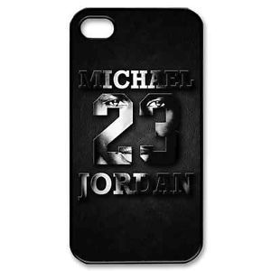 Michael Jordan Chicago Bulls NBA 23 Logo Fans Black Hard Case Apple iPhone 4 4S