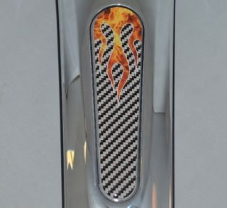 "Custom ""Real Flame"" Dash Insert Decal for 2010 2013 Harley FLTRX Road Glide"