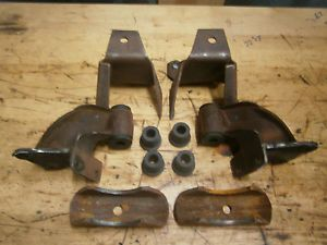 55 Chevy Rear Leaf Spring Frame Hangers Mounts Perches Bushings Brackets