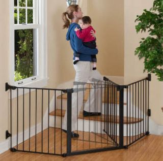 Kidco Extra Wide Custom Fit Auto Close Configuregate Dog Pet Gate Black G3001
