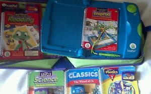 Leap Frog LeapPad Learning System Lot Case Books Cartridges LeapFrog Leap Pad