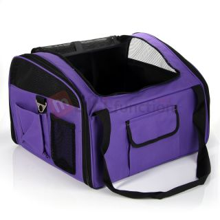 New Purple Pet Dogs Cat Car Booster Seat Car Van Carrier Basket  US