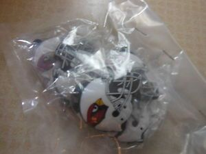 5 Arizona Cardinals Football Helmet Keychains New NFL