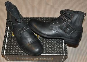 Stacy Adams Atlas Combat Black Leather Boots Sz 11 Brand New in Original Box