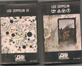 LED Zeppelin Lot of 2 Cassettes Zoso LED Zeppelin Lll