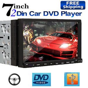 "HD2310 Double 2 DIN 7"" Touch Screen Car Stereo DVD Player Radio Hitachi CD Head"