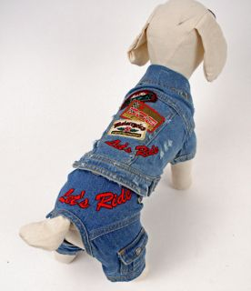 Biker Pet Dog Costume