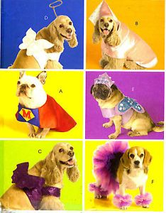 PIX OOP Pet Dogs Superman Princess Tutu Costume Sewing Pattern McCalls 5502