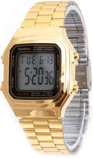 New Casio Gold A178WGA 1A Men's Digital Chronograph Latest Watch A178WGA 1A