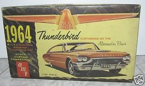 1964 Ford Thunderbird Custom Model Car Parts Box AMT T Bird George Barris