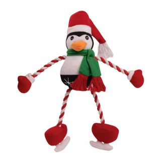 Zanies Frosty Pond Friends Plush w Rope Dog Toy Choose Style