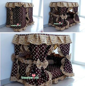 Auction Gorgeous Brand Print Handmade Princess Pet Dog Cat Bed House Sz Small