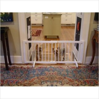 Cardinal Eco Friendly White Wood Freestanding Step Over Pet Dog Gate SG 1 WH