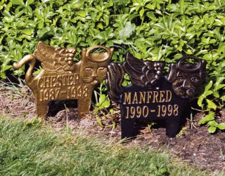Personalized Custom Pet Memorial Marker Angel Dog Cat