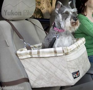 Small Dog Up to 18 lbs Pet Deluxe Lookout Booster Car Safety Seat Carrier