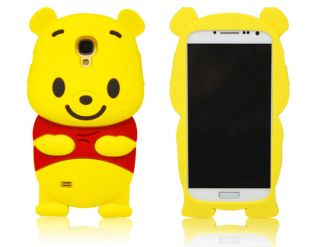 Disney 3D Cute Winnie Pooh Bear Soft Case Cover for Samsung Galaxy S4 I9500