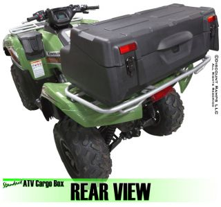 New ATV Rear Cargo Rack Storage Luggage Box Padded Seat Backrest ATV CB 8015
