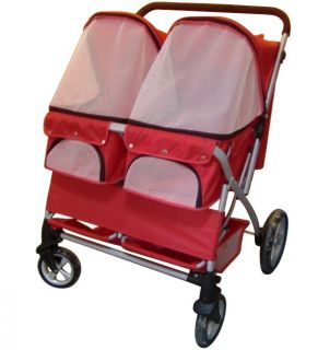 Pet Stroller Heavy Duty Big Wheels Dog Stroller Double Stroller All Terrain