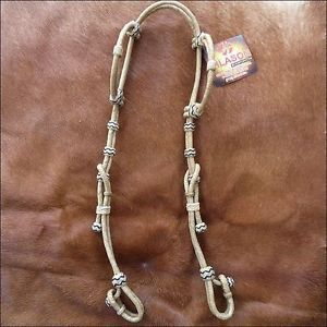 A505 New Hilason Western Rawhide Leather Horse Double Ear Bridle Headstall