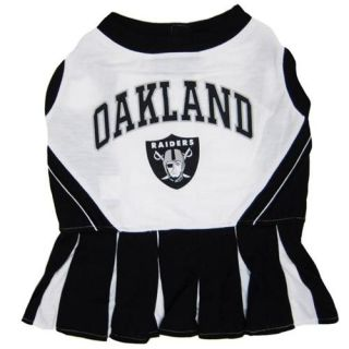 Dog Pet Oakland Raiders NFL Football Cheerleader Outfit Collar Leash Costume