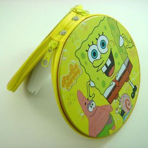 Spongebob Squarepants Bob CD VCD DVD Tin Storage Case Holder Hold 20pcs CD DVD