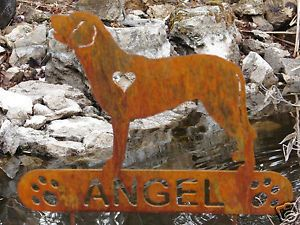 Chesapeake Bay Retriever Garden Plaque Pet Memorial Yard Stake Personalized Dog