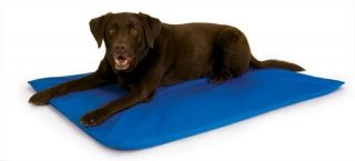 KH Mfg Indoor Outdoor Cool Bed III Cooling Dog Pet Bed Pad Mat Large Blue KH1790