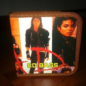 Michael Jackson Bad 40 CD DVD Disc Case Storage Bag Holder Made in Thailand