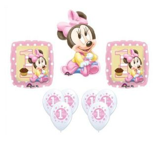 Disney Baby Minnie Mouse 1st Birthday Balloon Set Party Decoration