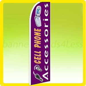 Swooper Feather Flutter Banner Tall Sign Flag Cell Phone Accessories P
