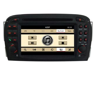 01 08 Mercedes Benz SL Class R230 Car GPS Navigation Radio TV DVD iPod BT Stereo