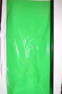 Green Tint Cellophane Wrapping Paper Gift Wrap Clear Roll Halloween Lot Cello US