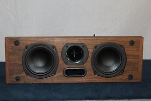Klipsch KV 2 2 Way Walnut Wood Veneer Center Channel Home Theater Speaker
