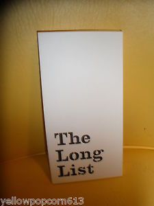 NIP Kate Spade Large Notepad The Long List on Sale Now