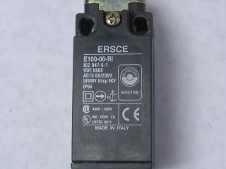 Ersce E100 00 Bi E10000BI Limit Switch w Roller Lever