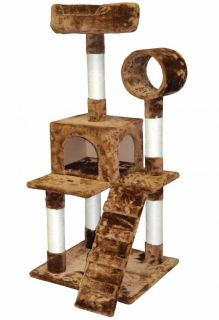 "50"" Cat Tree House Toy Bed Scratcher Post Furniture F76"