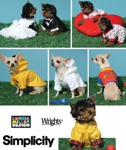 Small Teacup Dog Clothes Dress Tux Coat Pattern Wedding