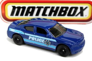 Matchbox Police Series Dodge Charger Police Car Blue