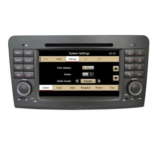 Mercedes Benz ml GL Class Car GPS Navigation Radio TV DVD iPod BT Player Stereo
