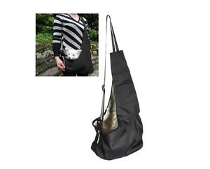 Black Oxford Cloth Sling Pet Dog Cat Carrier Bag s M L Size  I