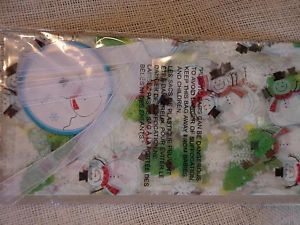 Snowman Cellophane Cookie Tray Bags Transparent Cello Christmas Gift Wrap Sacks