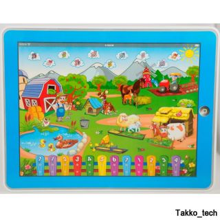 Farm Computer Y Pad English Learning Education Tablet Toy Gift for Kids New Blue