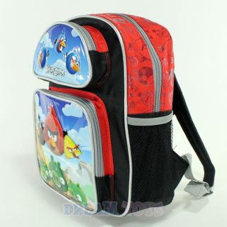 "Rovio Angry Birds Scene 12"" Red Small Backpack Toddler Bag Boys Girls Red Pig"