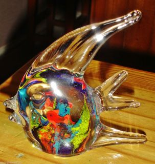 Beautiful Murano Glass Angel Fish Aquarium Animal Deep Sea Ocean Goldfish