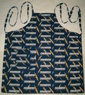 Barbeque Apron Made w San Diego Chargers NFL Fabric New